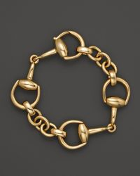 Gucci | 18k Yellow Gold Small Horsebit Bracelet | Lyst