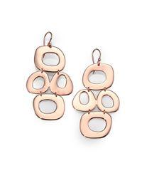 Ippolita | Metallic Rose Long Oval Loop Earrings | Lyst