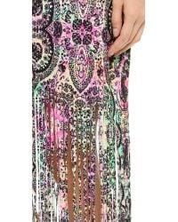 MINKPINK | Purple Ashram Fringed Maxi Cover Up Dress | Lyst
