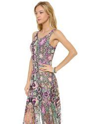 MINKPINK - Purple Ashram Fringed Maxi Cover Up Dress - Lyst