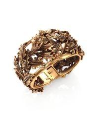 Oscar de la Renta | Metallic Oak Leaf Cuff Bracelet | Lyst