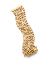 Rachel Zoe | Metallic Love Me Knot Magnetic Bracelet | Lyst