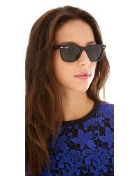 Ray-Ban | Green Polarized Wayfarer Sunglasses | Lyst