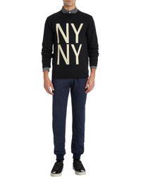 Saturdays NYC - Black Ny Ny Print Sweatshirt for Men - Lyst