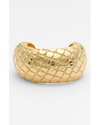 Simon Sebbag | Metallic Gold Crocodile Cuff for Men | Lyst