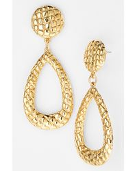 Simon Sebbag | Metallic Gold Crocodile Teardrop Earrings | Lyst