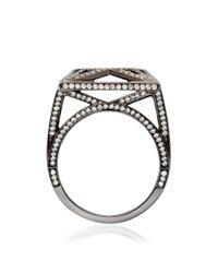 Solange Azagury-Partridge - White Skeleton Square Ring - Lyst