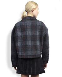 Stella McCartney - Gray Plaid Denim Jacket - Lyst