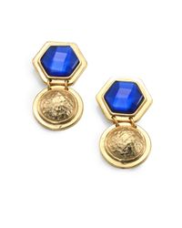 Stephanie Kantis | Blue Quartz Coin Drop Earrings | Lyst