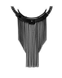 Vince Camuto - Black Gunmetal Bib Necklace - Lyst