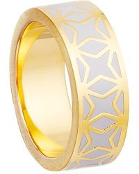 Astley Clarke | Metallic Moonlight Star Mosiac 18ct Gold Vermeil Ring | Lyst
