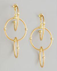 Paul Morelli | Metallic 18k Yellow Gold Diamond Link Earrings | Lyst
