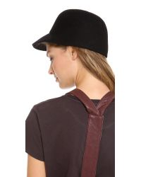 Eugenia Kim - Black Joey Wool Baseball Cap - Lyst
