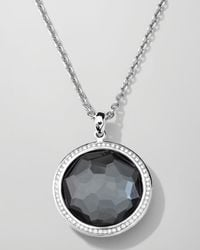Ippolita | Metallic Stella Large Lollipop Necklace In Hematite & Diamonds 16-18"