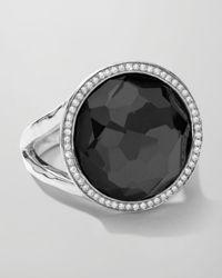 Ippolita | Metallic Stella Large Lollipop Ring In Hematite & Diamonds | Lyst