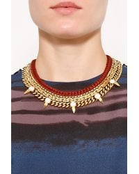 Lizzie Fortunato - Metallic Box Chain with Leather Braid Necklace - Lyst