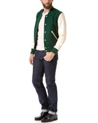 Shipley & Halmos - Green Varsity Jacket for Men - Lyst
