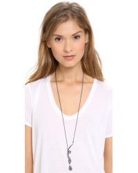 Alexis Bittar - Gray Snake Pendant Necklace - Lyst