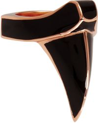 Dominic Jones | Pink Enamel Rose Gold Claw Ring | Lyst