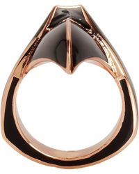 Dominic Jones | Pink Enamel Rose Gold Claw Ring | Lyst
