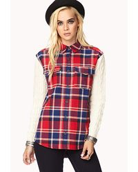 Forever 21 - Red Rustic Plaid Flannel - Lyst