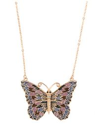 Forever 21 - Metallic Lacquered Butterfly Necklace - Lyst