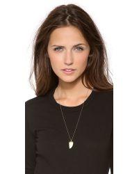 Heather Hawkins | Metallic Baby Bone Horn Necklace | Lyst