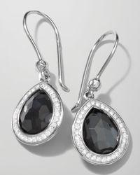 Ippolita   Metallic Stella Teardrop Earrings In Hematite & Diamonds   Lyst