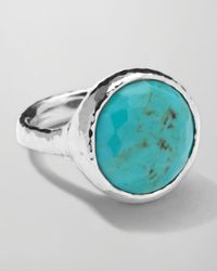 Ippolita | Metallic Sterling Silver Rock Candy Lollipop Ring in Turquoise | Lyst