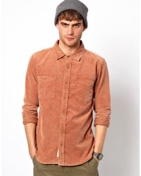 Native Youth | Orange Cord Shirt for Men | Lyst