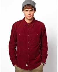 Native Youth | Red Cord Shirt for Men | Lyst
