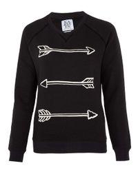 Zoe Karssen | Black Arrow Print Sweatshirt | Lyst