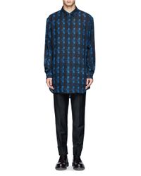 Alexander Wang - Blue Wool Flannel Patterned Shirt for Men - Lyst