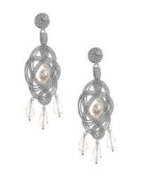 Anna E Alex - Metallic Earrings - Lyst