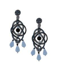 Anna E Alex | Gray Blue Passementerie Chandelier Earrings | Lyst