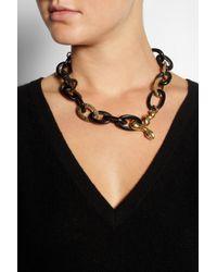 Ashley Pittman - Black Nyoka Goldtone and Horn Necklace - Lyst