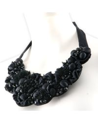 Black.co.uk | Black Orion Silk Sateen Bib Necklace | Lyst