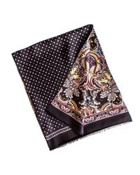 Black.co.uk Metallic Ravello Paisley Silk Dress Scarf for men