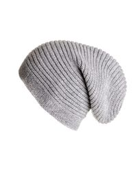 Black.co.uk | Gray Light Grey Cashmere Slouch Beanie Hat for Men | Lyst