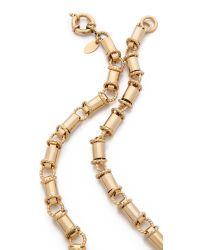 Elizabeth Cole - Metallic Statement Pendant Necklace - Lyst