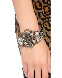 Elizabeth Cole - Metallic Art Deco Hinge Bracelet - Lyst