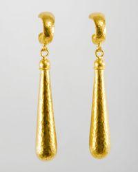 Gurhan - Metallic Splash 24K Gold Long Drop Earrings - Lyst