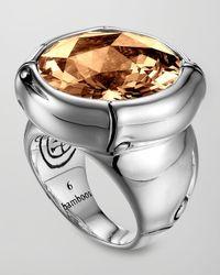 John Hardy - Metallic Batu Bamboo Silver Cognac Ring for Men - Lyst