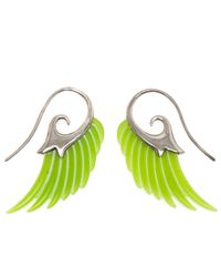 Noor Fares | Green 18k Gold and Jade Wing Earrings | Lyst