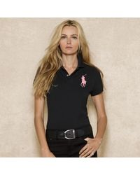 d8bd30a66 Lyst - Pink Pony Skinny Fit Polo in Black