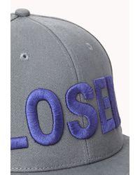 Forever 21 - Blue Loser Baseball Hat for Men - Lyst