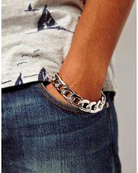True Religion | Metallic Asos Heavy Chain Bracelet for Men | Lyst