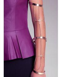 Bebe - Metallic Chain Arm Cuff - Lyst