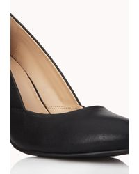 Forever 21 - Black Classic Faux Leather Pumps - Lyst