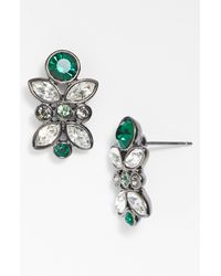 Givenchy | Green Cluster Stud Earrings | Lyst